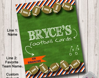 BI010 - Custom Binder Insert - Football Cards - Printable