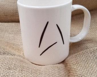 Custom Coffee Mug based on Captain Kirk's Coffee Cup in Star Trek Beyond -- New Starfleet Insignia Logo