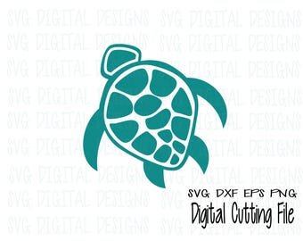 Sea Turtle SVG Cut File Underwater Animal Svg Dxf Eps Png Design for Silhouette Cricut & more Design Cutting files SVG Digital Desisgns