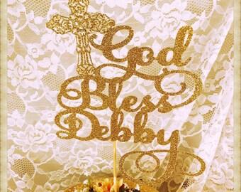 God Bless Cake Topper - God Bless Party Decorations - God Bless Party Decor - God Bless Party Centerpiece - God Bless Party Cake Topper