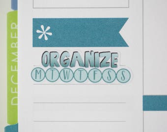 36 Organize Daily Habit Stickers  | Planner Stickers designed for use with the Erin Condren Life Planner | 0682