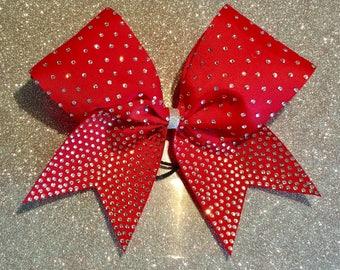 "3"" Rhinestone Cheer bow"