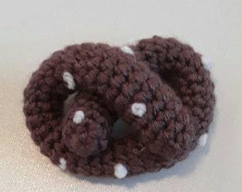 Pretzel - Handmade Stuffed Crochet Cat Toy, Pet Gift