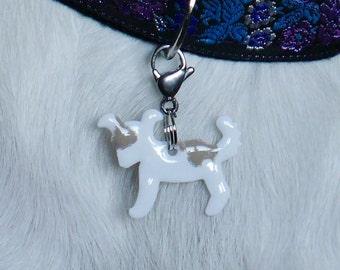 White puppy N3 on copper
