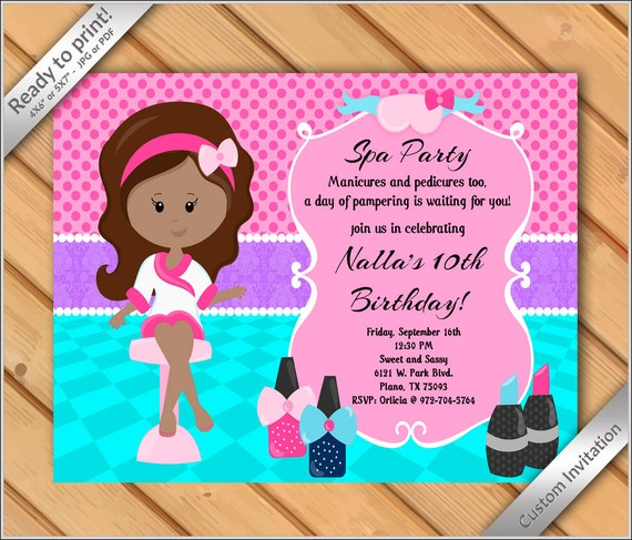50 OFF SALE Spa Party Invitations for Girls Makeover or – Makeover Party Invitations