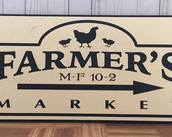Farmers Market Wood Sign