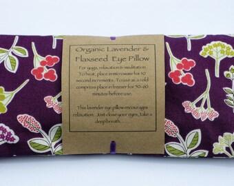 Organic Flaxseed and Lavender Eye Pillow/Meditation/Relaxation/Yoga/Savasana/Wellbeing/Yoga Meditation