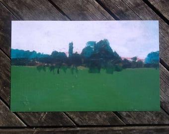 Print of my landscape oil painting.landscape art.