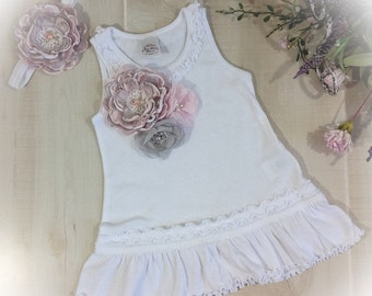 Baby Girl Sundress, Baby Girl Outfit, White Baby Dress, Baby Shower Gift