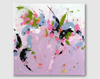 Violet Abstract painting Contemporary Wall Art Abstract with White Color Acrylic painting Modern Art Work Landscape paintings Wall hanging