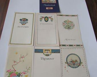 7 Vintage Lenox China Pattern Booklets  Dinnerware Patterns
