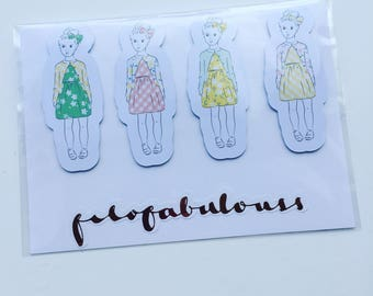 Matilda x 4 Magnetic Book Mark - Page Marker