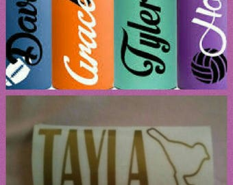 Vinyl Drink Bottle Name Stickers
