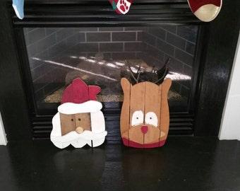 Santa Claus and Rudolph Decorations Set