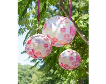 Floral Pattern Decorative Hanging Lanterns, Floral Print, Paper Lanterns, Wedding Lanterns