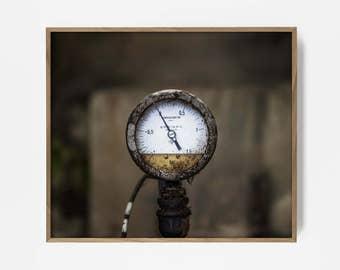 industrial print, gauge print, gauge art, industrial art, modern art print, industrial wall print, industrial photo, shop print, shop art