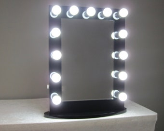Vanity Mirror With Lights Etsy : Hollywood Impact Lighted Vanity Mirror w/ LED Bulbs & Double Etsy