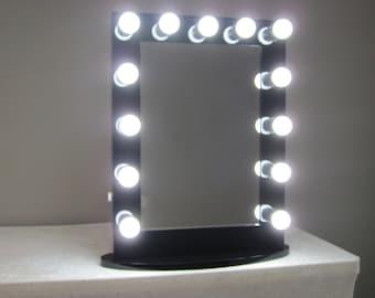 Lighted Vanity Mirror Etsy : Hollywood Impact Lighted Vanity Mirror w/ LED Bulbs & Double Etsy