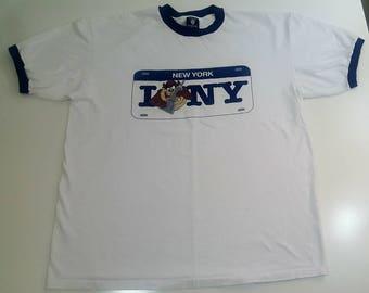 FREE SHIPPING New York Yankees Taz Tazmanian Devil 2XL T Shirt Vintage 90s Warner Brothers Looney Toons MLB Baseball
