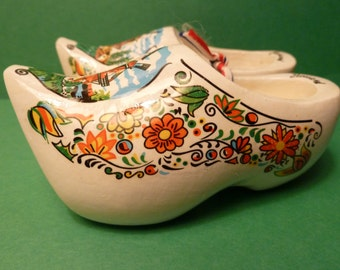 Souvenir from Holland, Small Wooden Shoe Pair