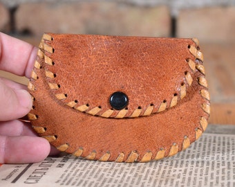 Leather Wallet - Coin Purse - Handmade Coin Purse - Leather Coin Purse - Small Coin Purse - Brown Coin Purse - Small Purse - Vintage Wallet