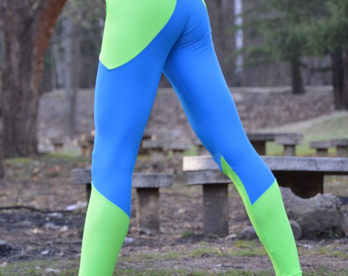 Workout Compression Leggings, Running Stretch Pants, Elastic Casual Leggings, Tight-fitting by SSDfashion