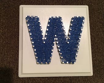 """Chicago Cubs """"W"""" string art"""