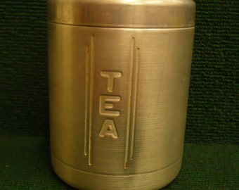Aluminum Canister, Tea, with Lid
