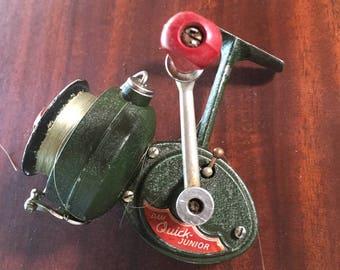 DAM Quick Junior Reel Fishing Reel / Vintage Spinning Reel Youth Fishing Pole