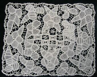 Fine Handmade Tape lace panel/mat circa 1900-1920.