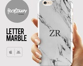 Custom Monogram Phone case Marble iPhone 7 Plus case iPhone 6s 6 Plus SE 5C 5S case personalized Samsung Galaxy S6 S7 S5