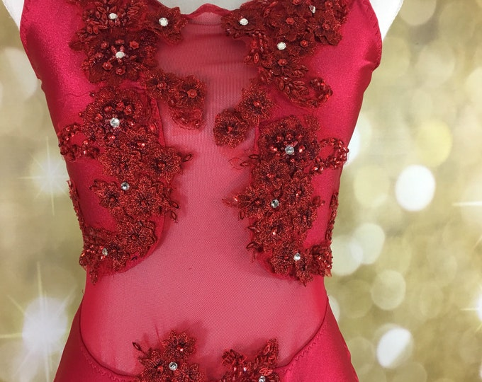 Custom dance leotard, custom dance leotard Lyrical dance costume or contemporary dance costume, leotard dance costume