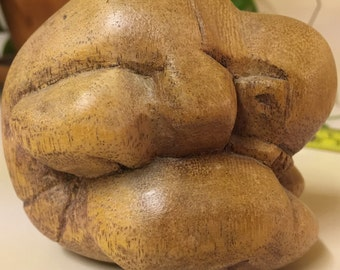 Carved wood Buddha
