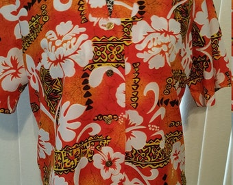 Royal Hawaiian Ladies Blouse. Size L 38/40