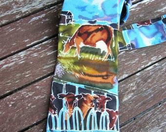 Mens Tie, Land  pattern, Free Shipping, Vintage Tie  Mens Necktie, Man Necktie