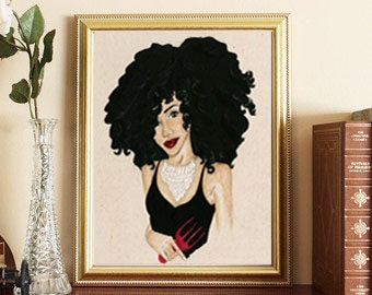 Glamourous Natural hair curly hair art