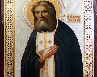 St. Serafim Sarovskiy russian icon - #82bb