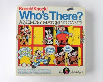 Knock! Knock! Who's There? Memory Matching Game 1982 by Colorforms No. 7921 COMPLETE