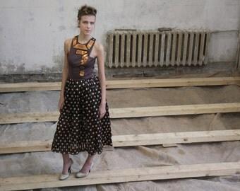 Women dress/violet dress/pois dress