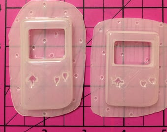 Game Controllers Set of 2 - shaker /liquid Flexible Plastic Resin Mold