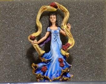 Hand painted woman dancing, senorita