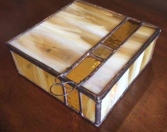 Stained Glass Geometric Jewelry Box
