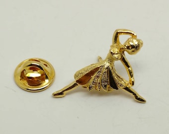 Vintage Dancing Lady Tie Tac -numbered and signed Ballou registered