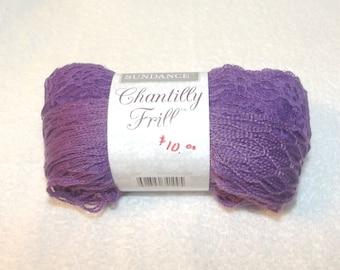 Sundance Chantilly Frill, Lace Yarn, Sashay Yarn, One Skein Scarf Yarn, Frilly Yarn, Sashay Scarf Yarn, Purple Yarn, Purple Sashay Yarn