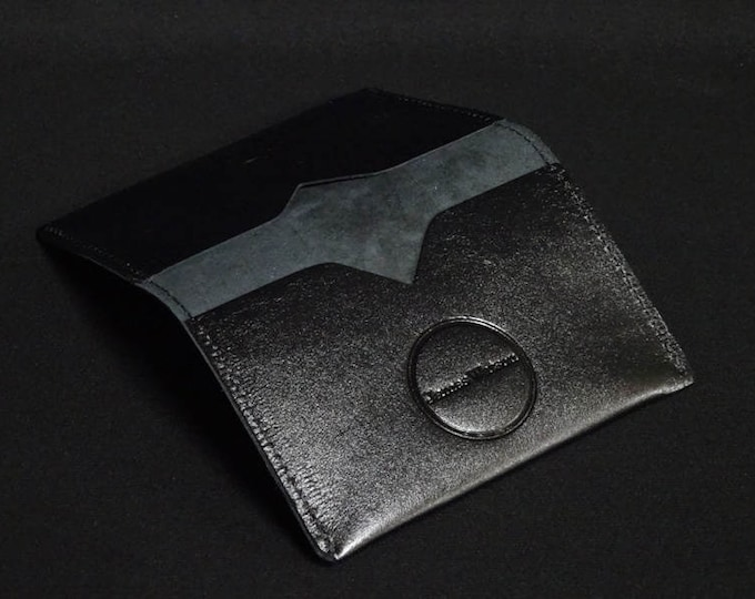 Bantam Wallet - Thin Satin Black - Kangaroo leather with RFID Credit Card Blocking - James Watson