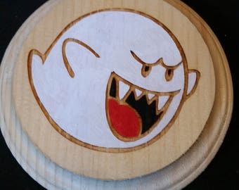 Boo (Super Mario Brothers) Wood Wall Hanger