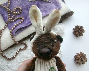 SOLD Teddy bear Handmade Stuffed animal Toy bear Artist teddy bear Little teddy bear Art Ooak 7 Inches Free shipping