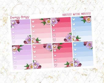 Hostess with the Mostest Ombre Heart Checklists | 8 Stickers