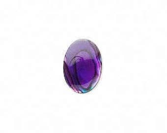 Purple Cabochon, Purple Paua Shell, 14x10mm Cabochon, 2 each, D974