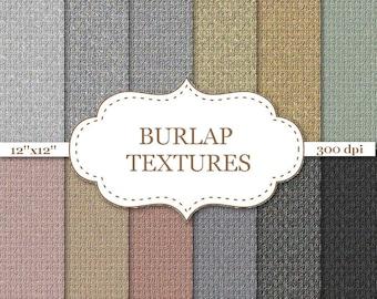 "BURLAP TEXTURES Paper Burlap Digital Paper Burlap Paper Rustic scrapbooking Natural burlap Linen Jute Fabric Textures 12""x12"" #P013"